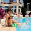Relax at the pool — Foto Stock