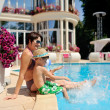 Relax at the pool — Stockfoto