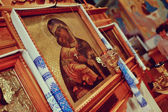 Icons in the church — Stock Photo