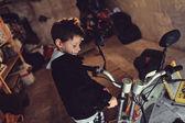 Biker boy — Stock Photo