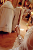Wedding candles — Stock Photo