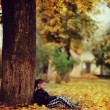 Indian summer and a boy — Stock Photo