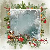 Cartão de Natal e ano novo — Fotografia Stock