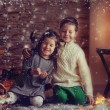 Children and Christmas story — Stock Photo #36528705