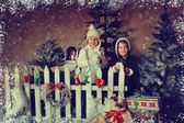 Children and Christmas story — Stock Photo