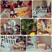 Collage weihnachten — Stockfoto