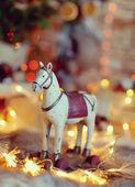 チェーン内の馬 — ストック写真