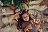Christmas tale with a girl — Stock Photo