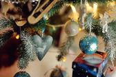 Beautiful Christmas tree toys — Stock Photo