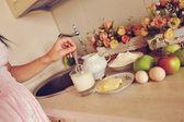 Natureza-morta na cozinha — Fotografia Stock