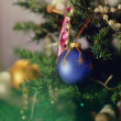 Balls on the Christmas tree — Stock Photo