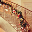 Stock Photo: Decorated staircase