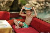 Şapkalı çocuk — Stok fotoğraf