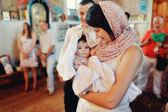 Infant baptism — Stock Photo