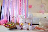 花とウサギ — ストック写真