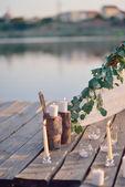 Romantisk candle — Stockfoto