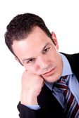 Portrait of a boring business man isolated — Stock Photo