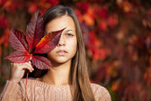 Girl - autumn — Stock Photo