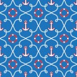 Seamless sea pattern.marine theme — Stock Vector