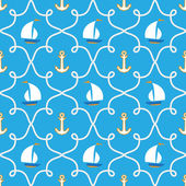 Kesintisiz deniz pattern.marine tema — Stok Vektör