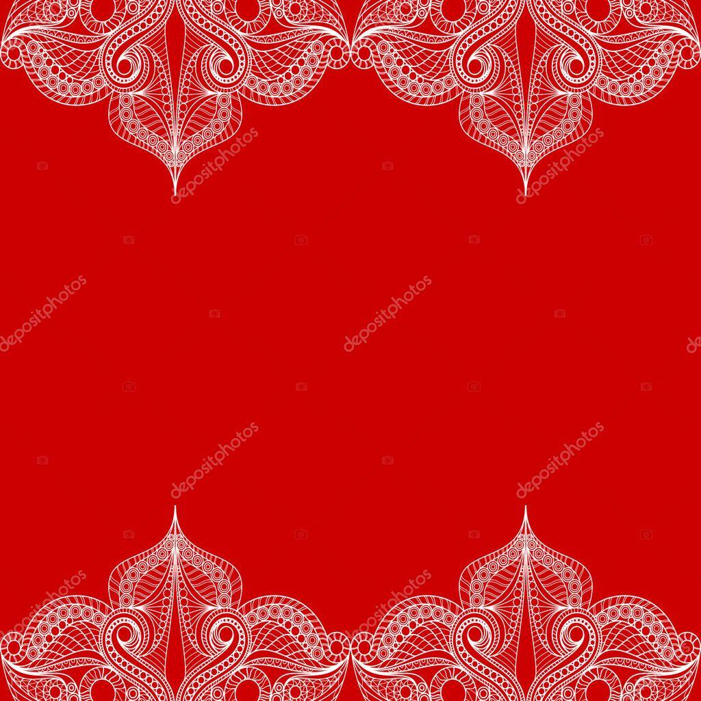 Кружева на красном фоне