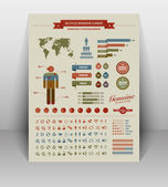 High quality vintage styled infographics elements — Stock Vector