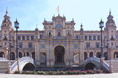 Tower of the plaza de Espana in Seville — Stock Photo