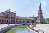 The plaza de Espana in Seville — Stock Photo