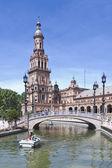 The plaza de Espana in Seville — Stock Photo