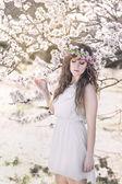 Flower lady — Stock fotografie