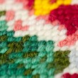Stock Photo: Embroidery stitch close-up