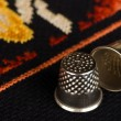 Stock Photo: Pair of thimbles closeup