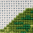 Stock Photo: Cross stitching close-up