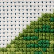 Cross stitching close-up — Stock Photo