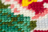 Embroidery stitch close-up — Stock Photo