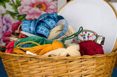 Set for cross stitching — Stock Photo
