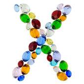 字母 x 的宝石 — 图库照片