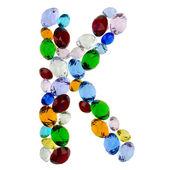 字母 k 的宝石 — 图库照片