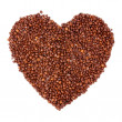 Heart of coffee beans - Stock Photo