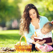 Mother with daughter in the park — Stock Photo #14974987