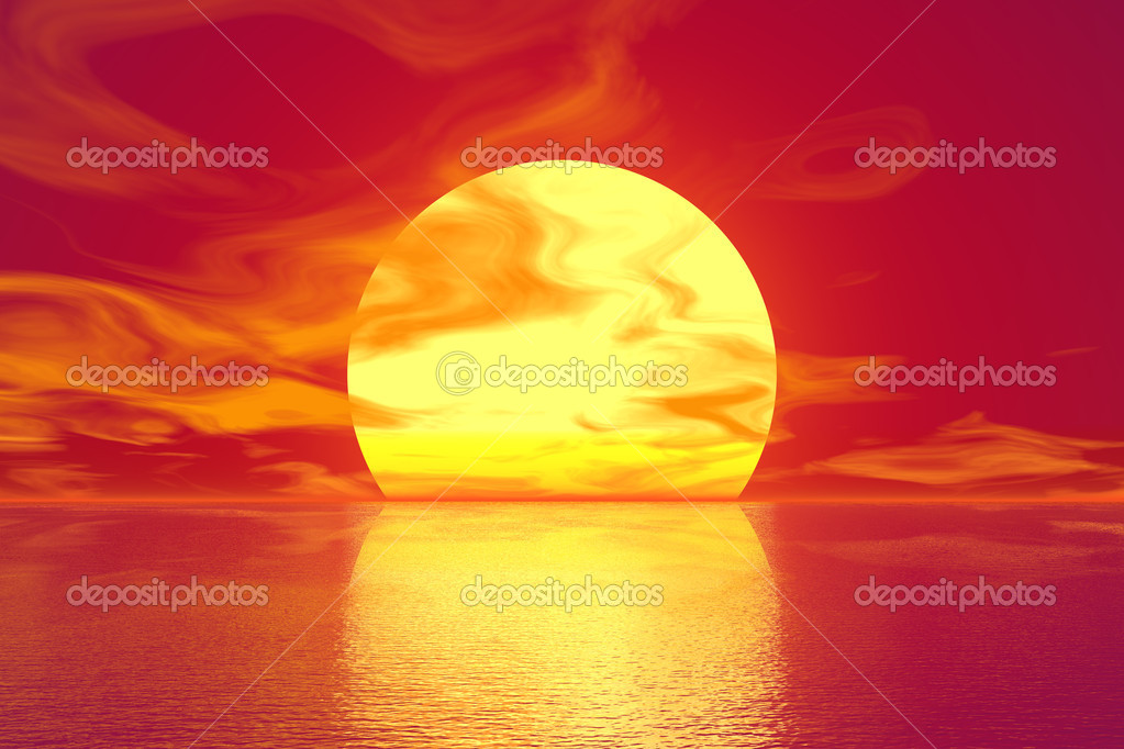Golden sunset — Stock Photo #14975431