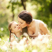 Mother and daughter in the park — Stock Photo
