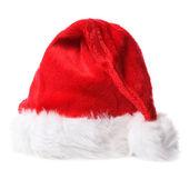 Santa kapelusz na białym tle w tle — Zdjęcie stockowe