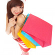 Fun santwomwith packages — Stock Photo #17355965