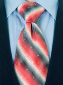 Close up businessman tie — Stock Photo
