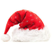 Chapéu de papai noel, isolado no fundo branco — Foto Stock