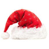 圣诞老人帽子隔离在白色背景 — 图库照片