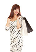 Pretty woman with shopping bags — Stock Photo