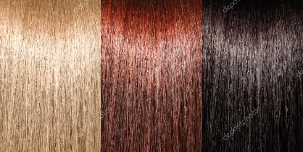 beispiel f r verschiedene haarfarben stockfoto suravid 17844241. Black Bedroom Furniture Sets. Home Design Ideas