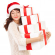 Royalty-Free Stock Photo: Happy woman with gift boxes
